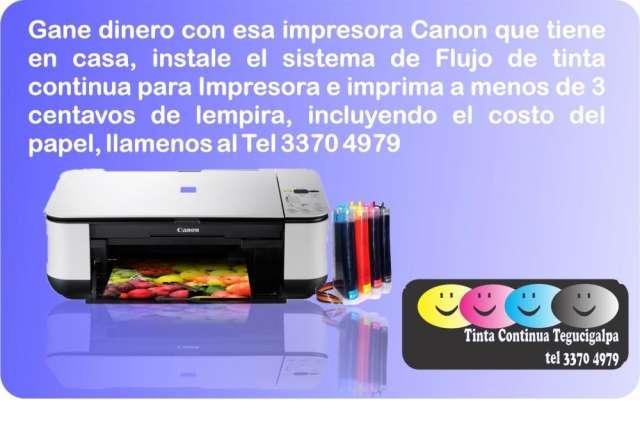 Tegucigalpa sistema de flujo continuo de tinta para impresora