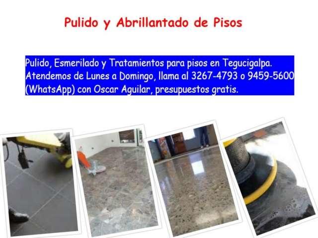 Pulido y abrillantado de pisos en tegucigalpa...