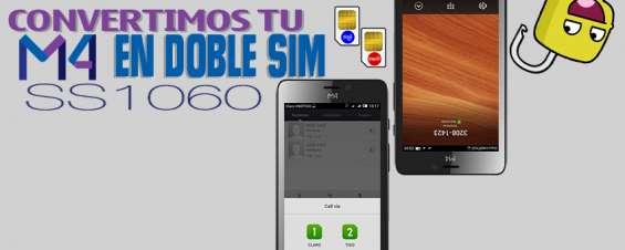 Convierte tu m4tel ss1060 en un teléfono doble sim