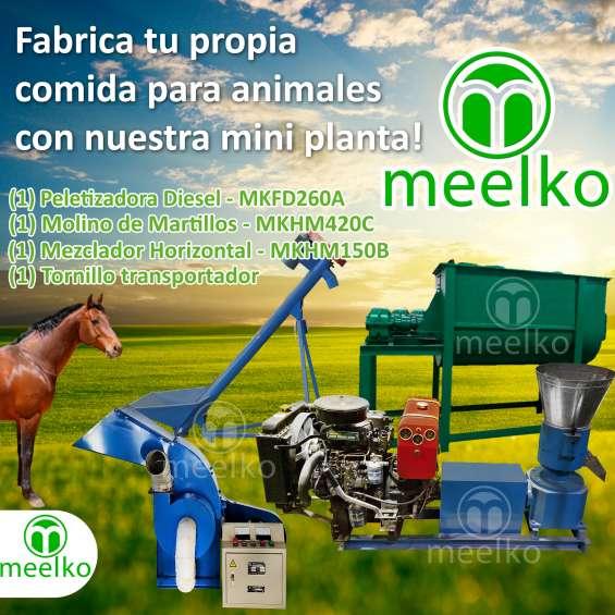 Mini planta meelko mkfd260a comida para caballos