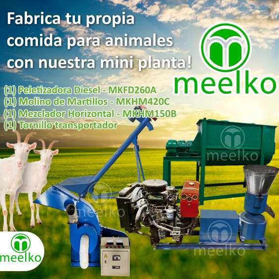 Mini planta meelko mkfd260a comida para cabras