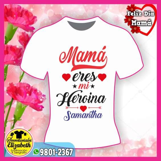 4a06fa077 Camisetas para el dia de las madres personalizadas impresion full color