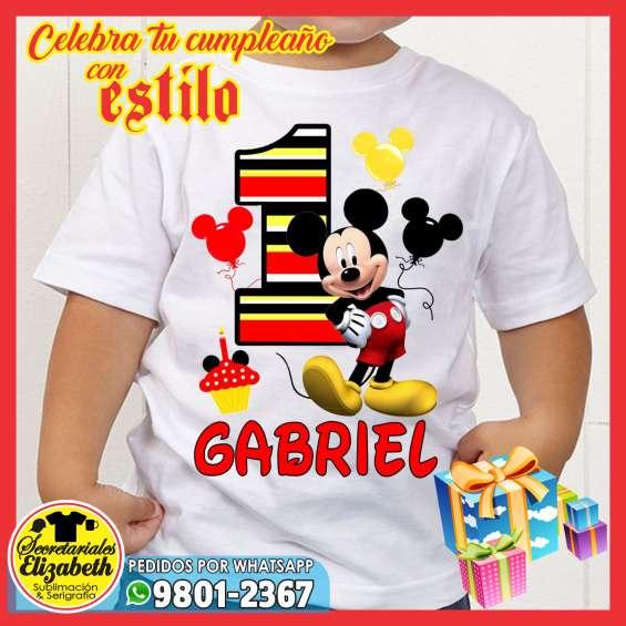 primer nivel gran descuento gran variedad de estilos Celebrar tu cumpleaño con estilo con camisetas personalizadas sublimacion /  serigrafia