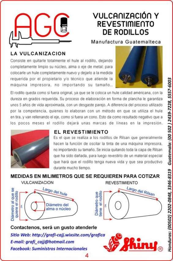 Vulcanizacion con hule de calidad