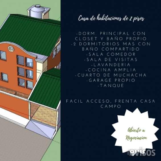 Proyecto casa de habitaciones dos niveles
