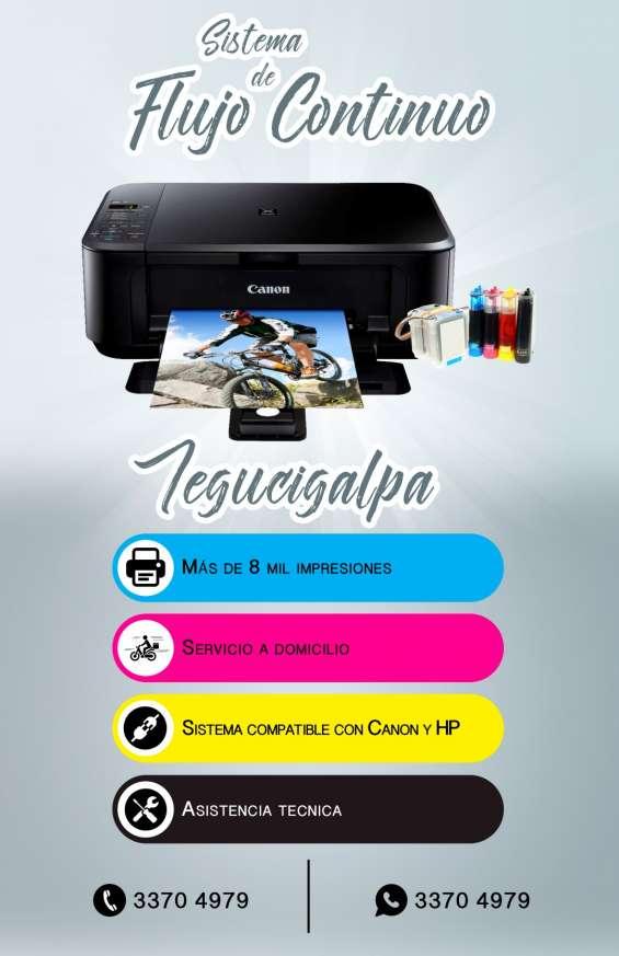 Instalacion de flujo continuo para su impresora en tegucigalpa