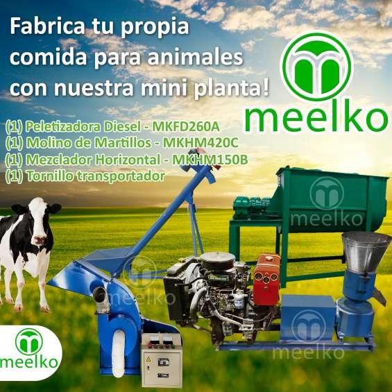 Mini planta meelko, combo para fabricar comidas de animales y mascotas