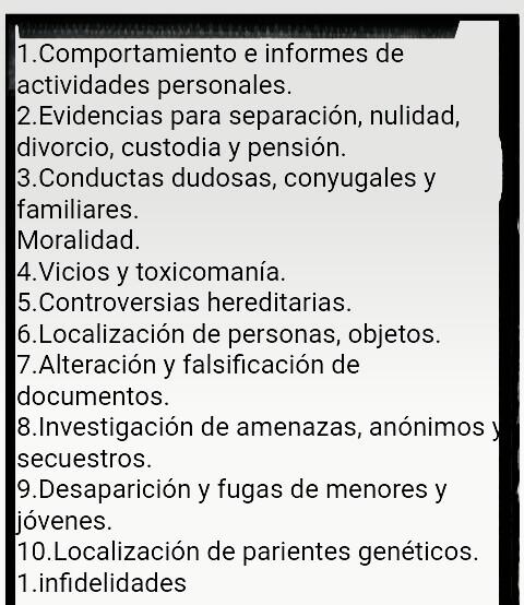 Asesor y detective privado +50488212952
