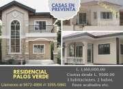 Casas en pre-venta  residencial palo verde sps