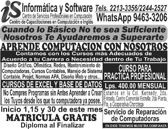 Cursos computacion tegucigalpa kennedy