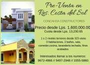 Pre venta de casa en residencial costa del sol