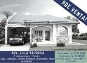 Pre venta de casa en residencial villa valencia