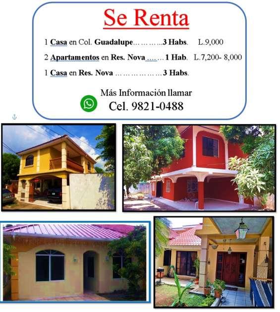 Renta casa guadalupe de 3 habitaciones
