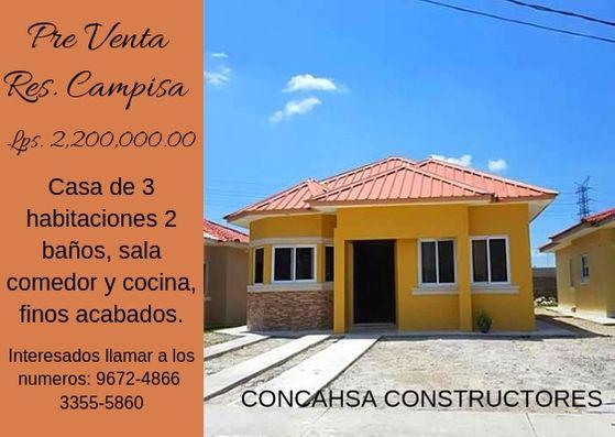 Casas en pre-venta residencial campisa