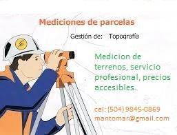 Servicios de topografía en tegucigalpa honduras
