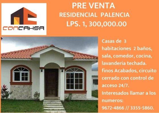 Preventa de casas en residencial palencia sps