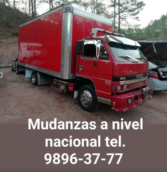 Servicio de fletes y mudanzas en tegucigalpa y todo honduras 9896-37-77.
