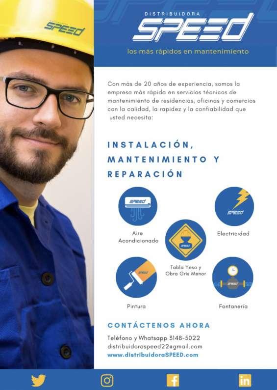 Aire acondicionado, fontanería, pintura, electricidad y obra gris menor en tegucigalpa