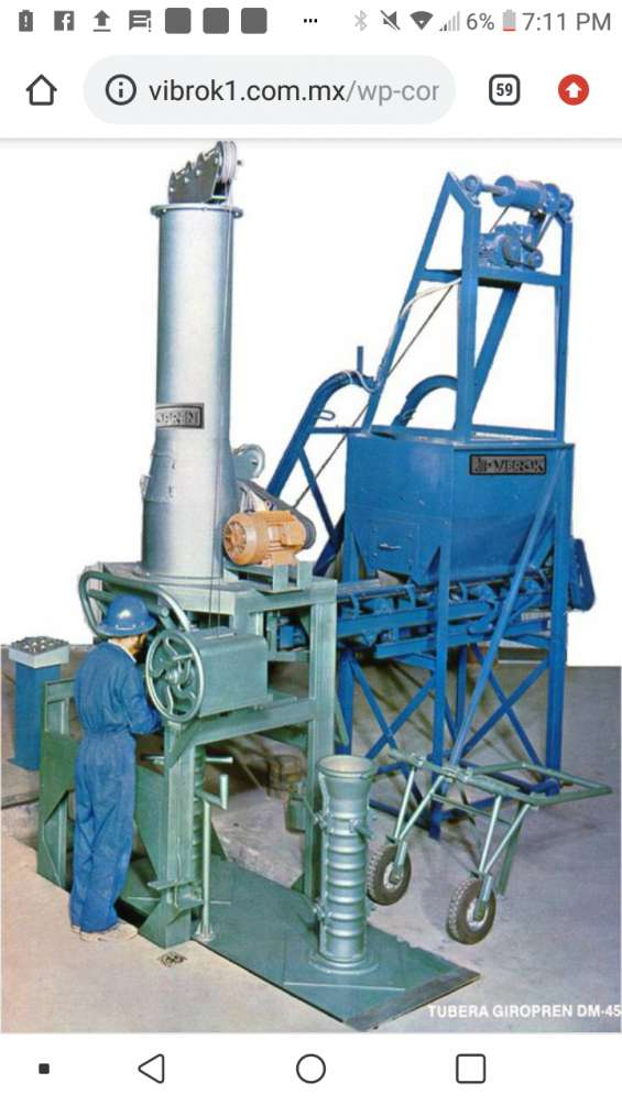 Maquina giropren para producir tubos de concreto